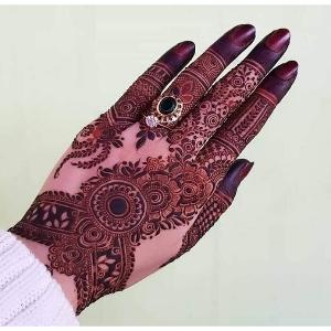 Front Hand Mehndi Kay Design