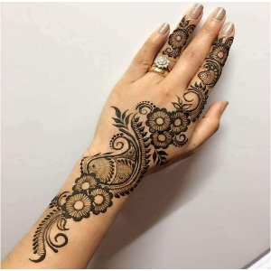 Peacock Mehndi Ki Design