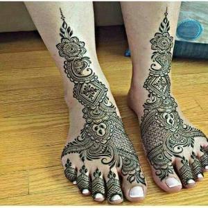Foot Mehndi Ka Design