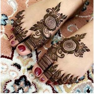 Mehndi Ke Design for Foot
