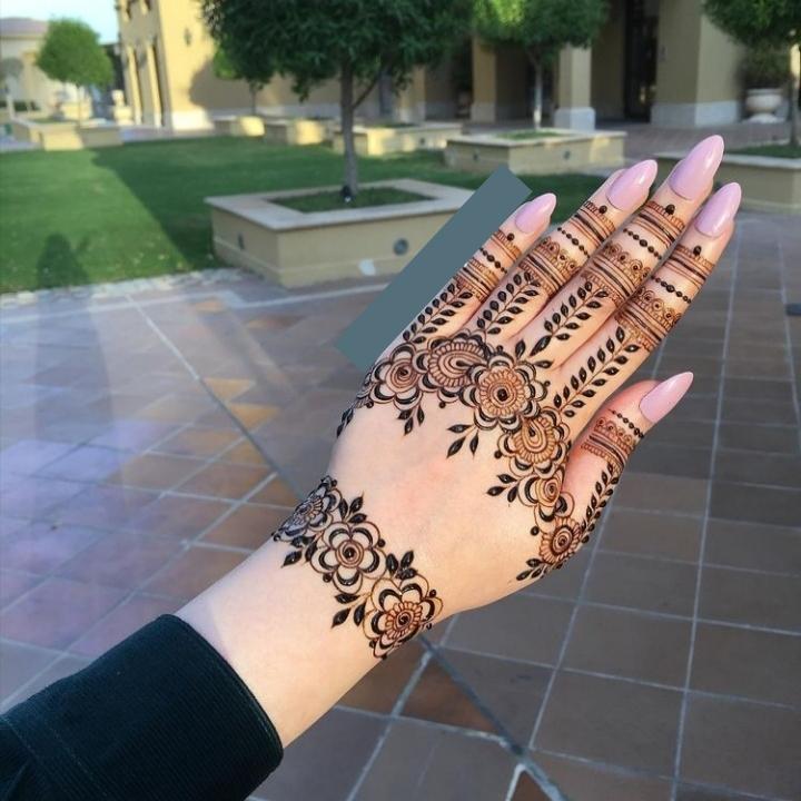 Mehandi Design for Back Hand