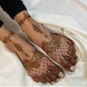 Mehandi Design on Foot