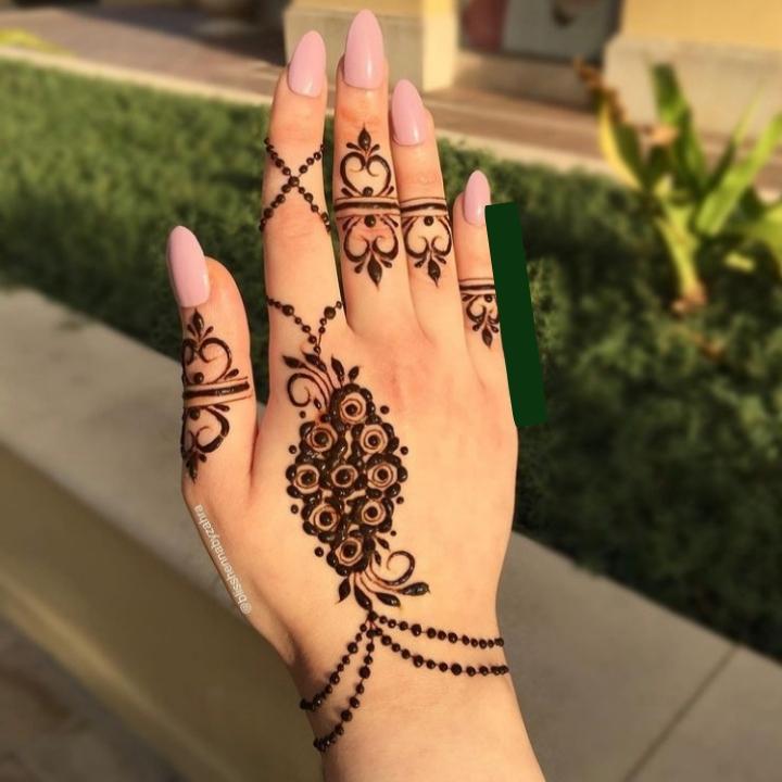 Cool Mehndi Design for Back Hand