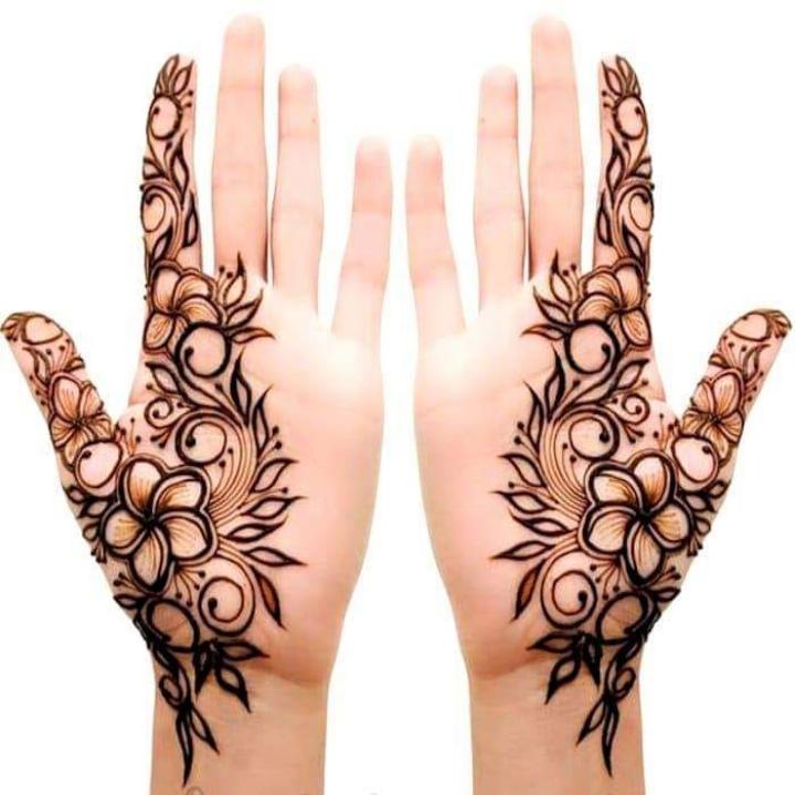 beautiful easy mehandi design