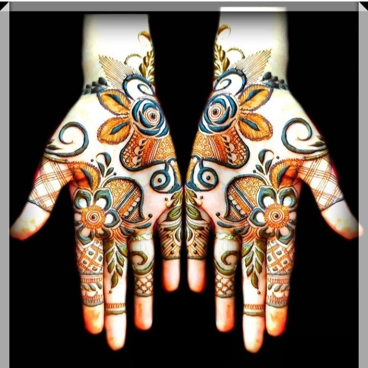 easy mehandi design both hands