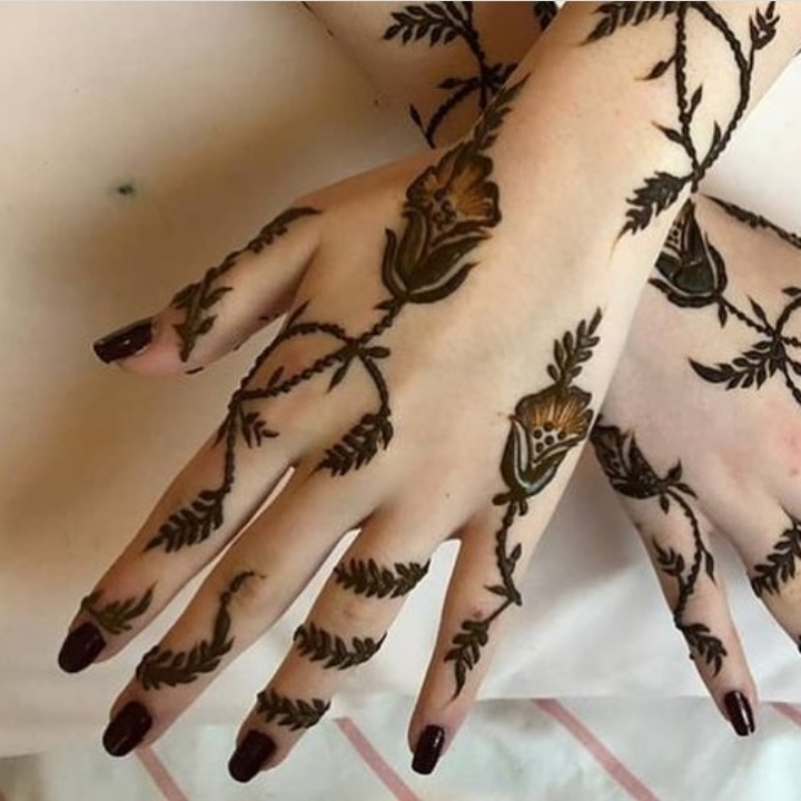 finger mehandi designs easy