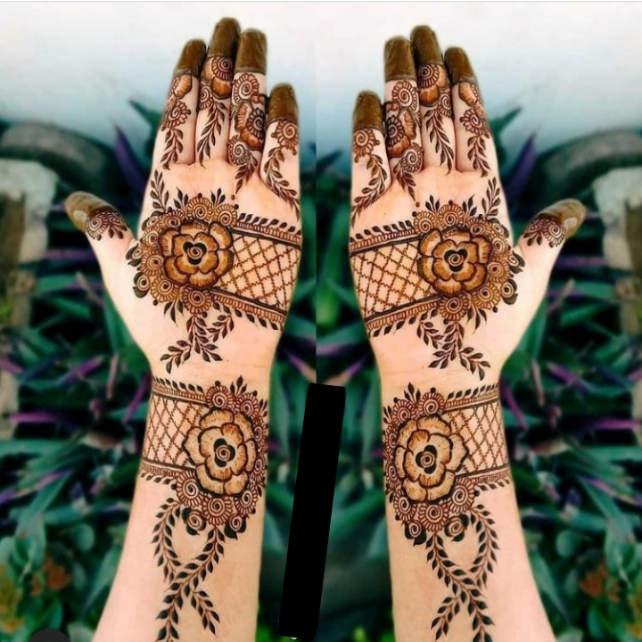 full hand easy mehndi design