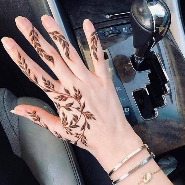 new finger mehndi designs easy