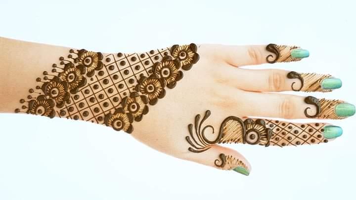 eid finger mehandi design