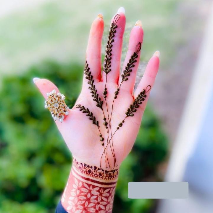 finger simple mehndi design