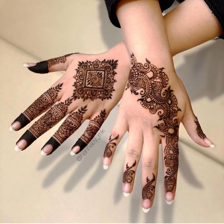 royal finger mehandi design