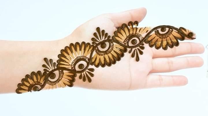 sunflower design mehndi