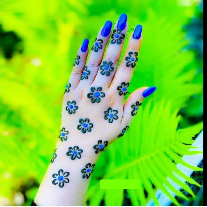 Blue Mehandi Design