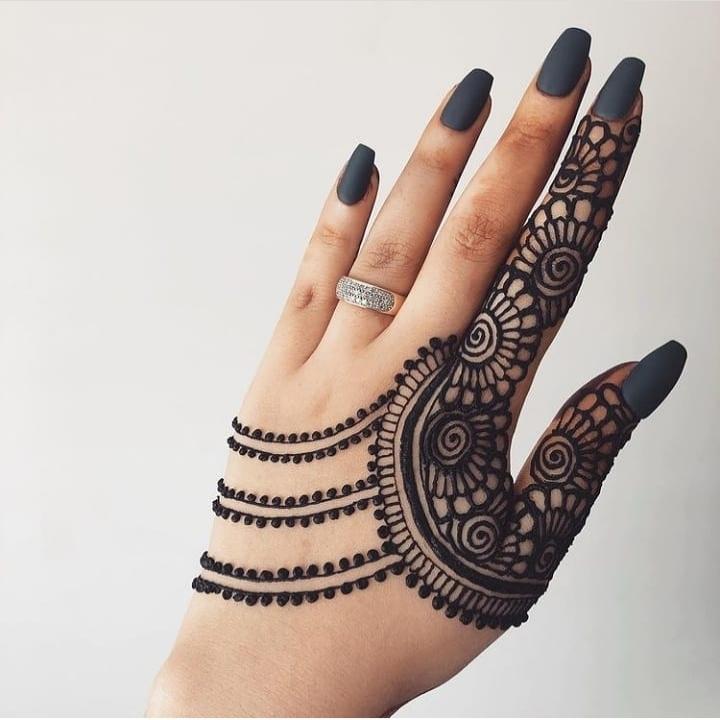 Finger Mehndi Ki Design
