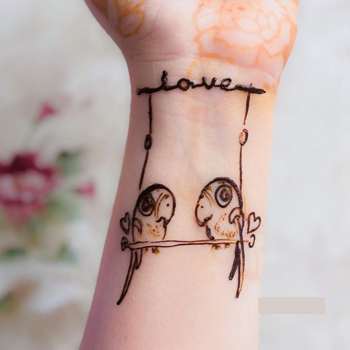 Parrot Henna Design