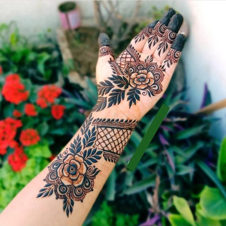 Black Mehndi Design Full Hand