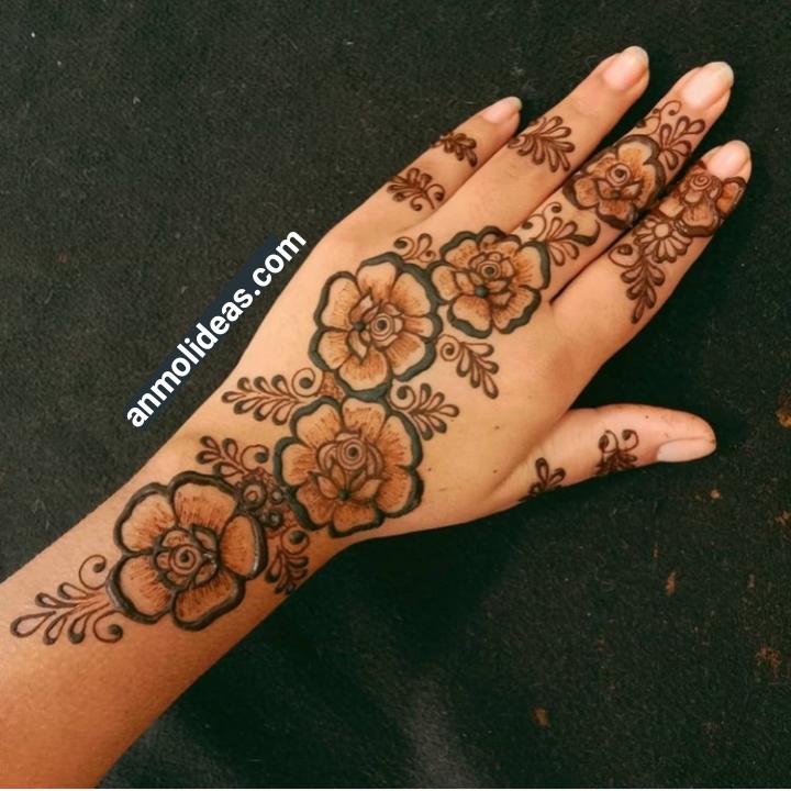 New Flower Mehndi Design