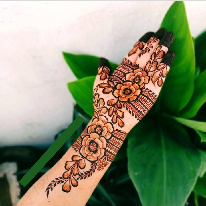 Transparent Henna Design