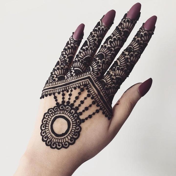 Mehndi Applied on Fingers