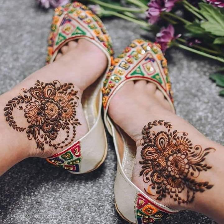 foot mehndi design foot